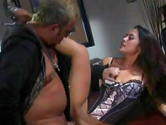 Brunette Kaylani Lei gives a gorgeous blowjob
