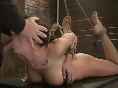 Throat Fucking Chanel Preston after Toying Her Pussy while She's Tied