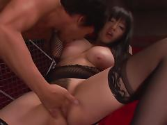 japanese starlet locked in a cage and face fucked