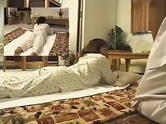 Adorable Jap enjoys in spy cam erotic massage video