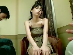 Skinny Asian slut enjoys hot Japanese doggystyle sex