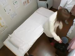 Lovely Japanese filled with pecker in voyeur massage video