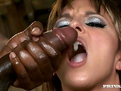 Passionate Lexi Love gets fucked rough in interracial video