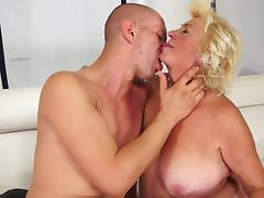 Fat granny is fucking in the bedroom