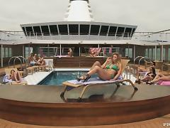 Sexy blonde Brooklyn Lee gets fucked in public on the poolside