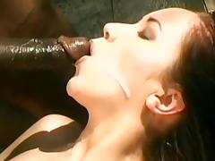 Sweet brunette fuck anent black learn of apropos rub-down the garden