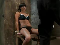 Hot Gia Dimarco gets whipped and tortured by Isis Love