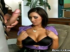 Amazing Dylan Ryder Goes Hardcore Over A Couch In A Reality Video