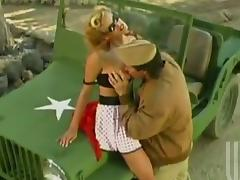 Stormy Daniels gets her snatch licked and fucked by a soldier