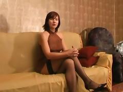 Mature Russian slut Vika gets fucked and toyed