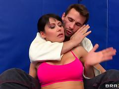 Eva Karera sucks Manuel Ferrara's dick and gets her ass torn up