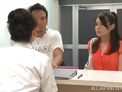 Japanese Beauty Gets Her Pussy Toyed By Her Doctor