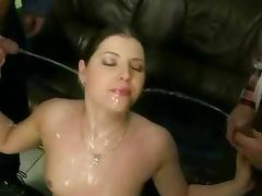 Sluts like her love when she is pissed all over