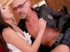 Naughty Teens and Horny Grandpa