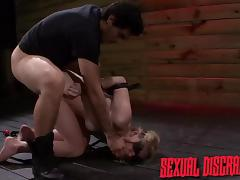dirty blonde whore gets violated with cock